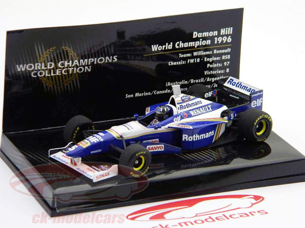 Damon-Hill-Williams-FW18-Formel-1-Weltmeister-1996-1-43-Minichamps